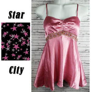 Star City Spaghetti Strap Cami Shirt